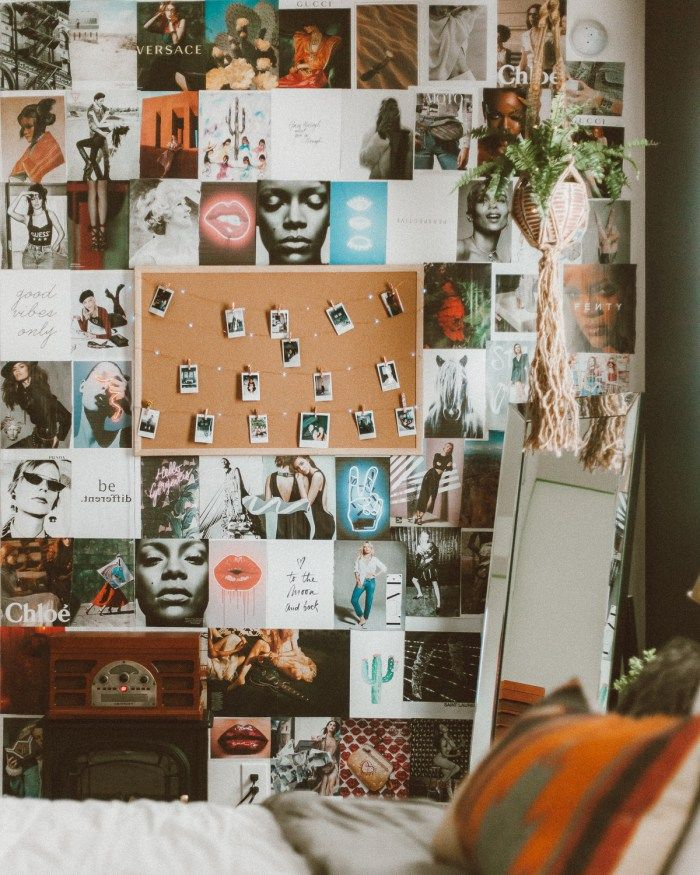 Diy Collage Wall Venture Into The Woods Wall Collage Bedroom