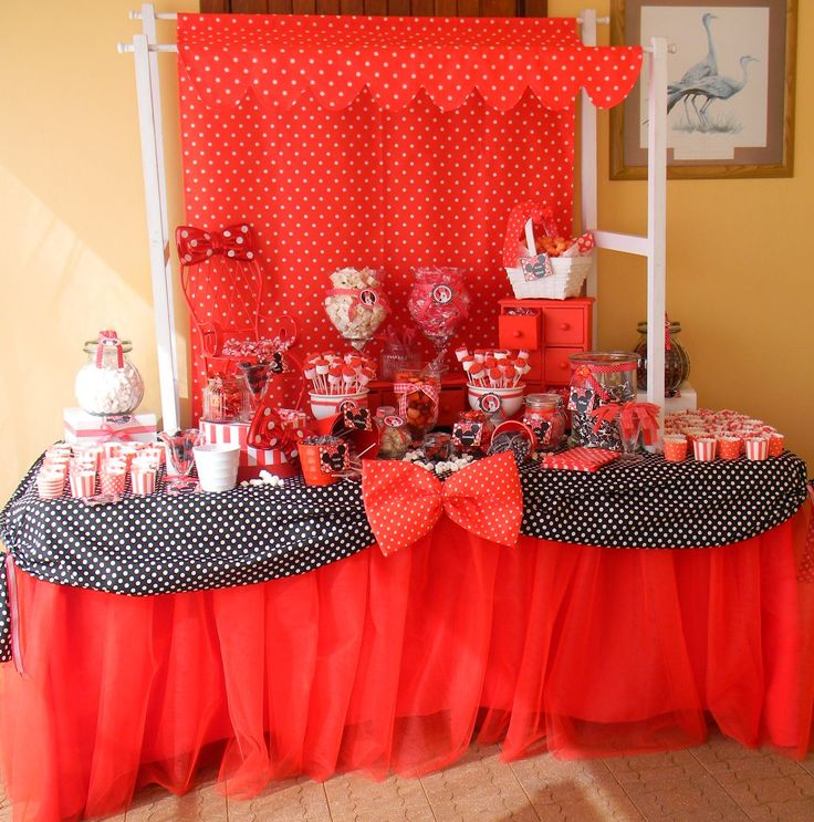 Minnie Mouse candy buffet/table Styling by Co-Ords Kidz Party Boutique
