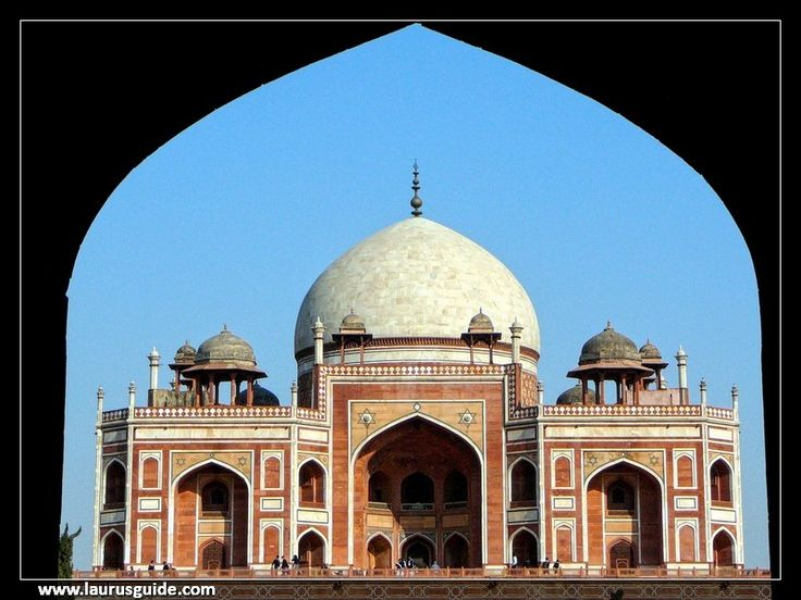 Humayun's Tomb is the tomb of the Mughal Emperor Humayun in Delhi, India. The tomb was commissioned by Humayun's son Akbar in 1569-1570 and designed by Mirak Mirza Ghiyas, a Persian architect chosen by Bega Begum. It was the first garden-tomb on the Indian subcontinent, and is located in Nizamuddin East, Delhi, India.  It was also the first structure to use red sandstone at such a large scale. The tomb was declared a UNESCO World Heritage Site in 1993.