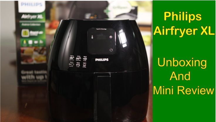 Philips Airfryer XL unboxing and mini review