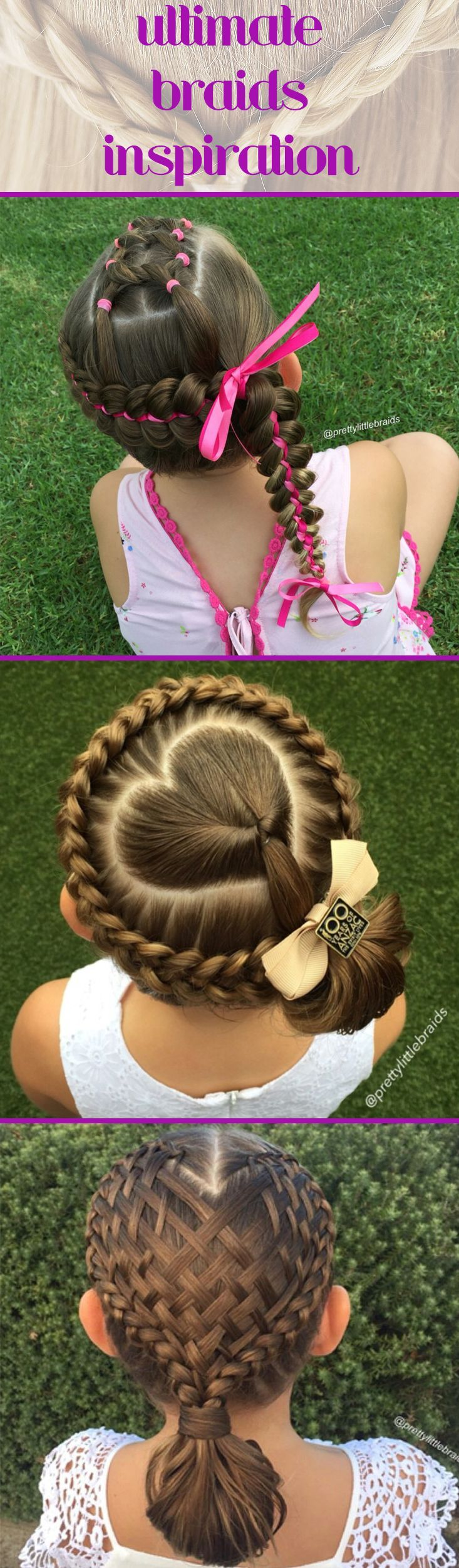 Create one of these gorgeous intricate braids in your child's hair. They're great for everyday or even a special occasion.