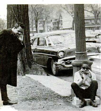 Barry Gordy and Stevie Wonder
