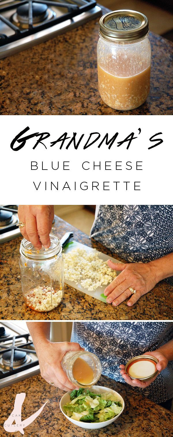 Looking for a unique salad dressing recipe? Try this blue cheese vinaigrette. It's my grandma's recipe and it's super tangy and delicious! It's perfect on a simple romaine salad with a nice steak!