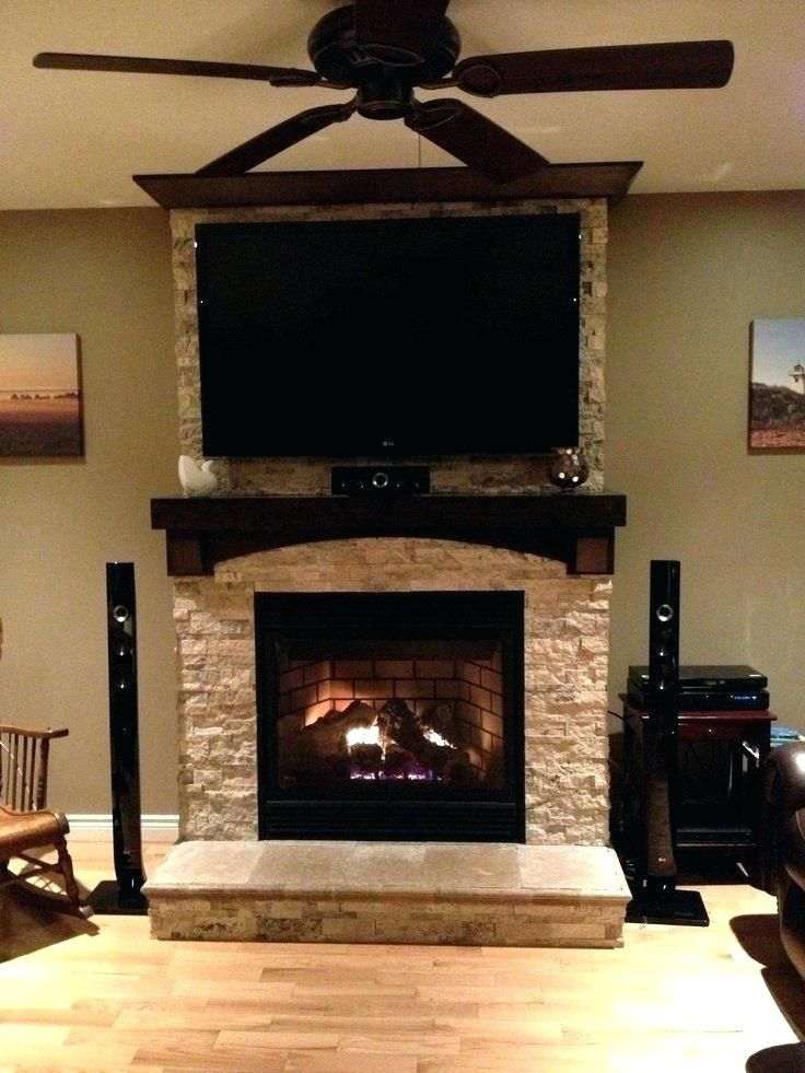 Hang Tv Over Fireplace Mounting Gas Mantels With Above Stone On