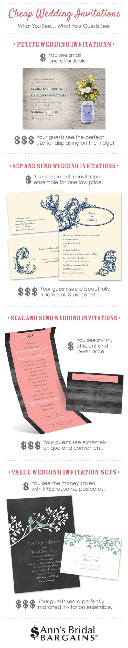 best price wedding invitations%0A Types of Cheap Wedding Invitations  What You See vs  What Your Guests See