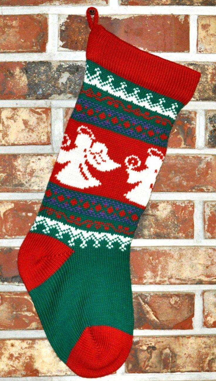 Knit Personalized Christmas Stocking- 100% U.S. Wool ...