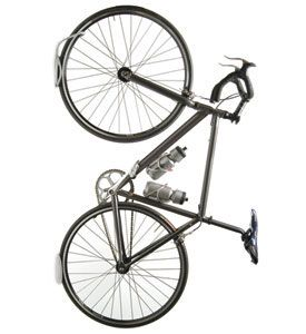 The Leonardo Wall Mount Bike Rack and Tire Tray allows you to store your bike on the wall and get it out of your way. Why not use your garage for what it was intended for...cars. Clear up floor space in your garage or storage area with the art inspired Leonardo Wall Mount Bike Rack. This reliable bike storage solution