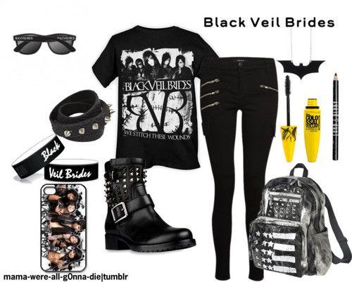 Black Veil Brides love the backpack