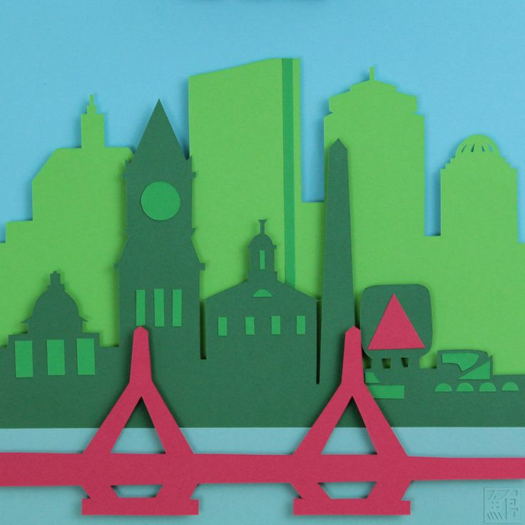 Boston Skyline Paper Cut by POWpaper on Etsy https://www.etsy.com/listing/494745851/boston-skyline-paper-cut