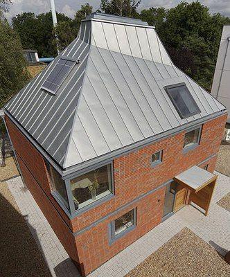 contemporary brick house eco friendly house design