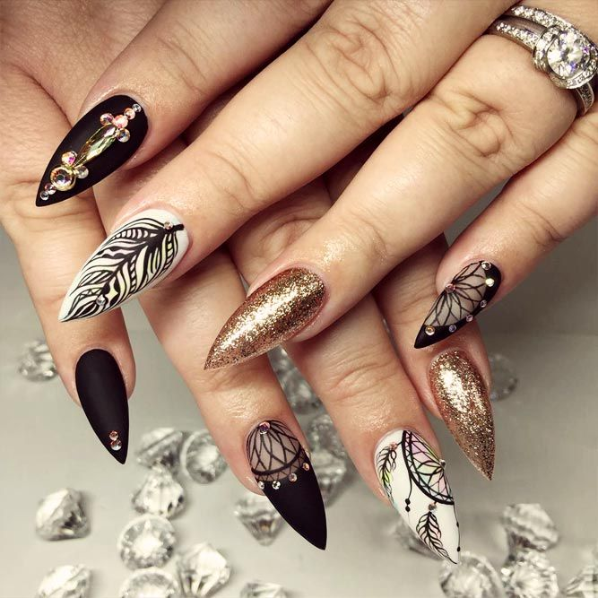 33 Ideas with Dream Catcher Nail Art