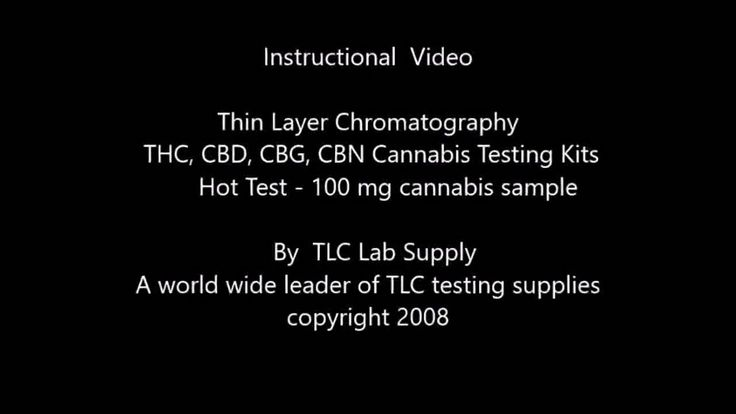 THC, CBD,  marijuana, cannabis-Thin Layer Chromatography test kits