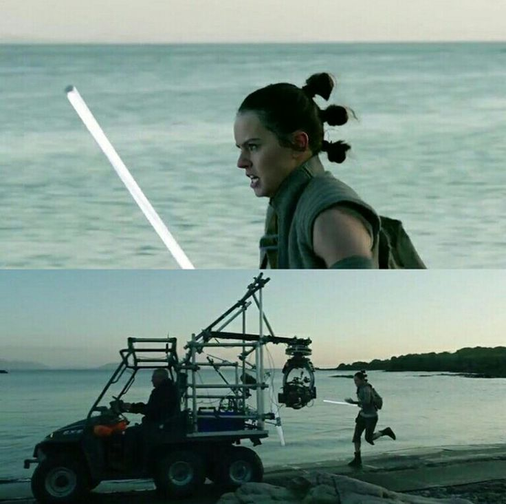 Behind the scenes of The Last Jedi! // Rey