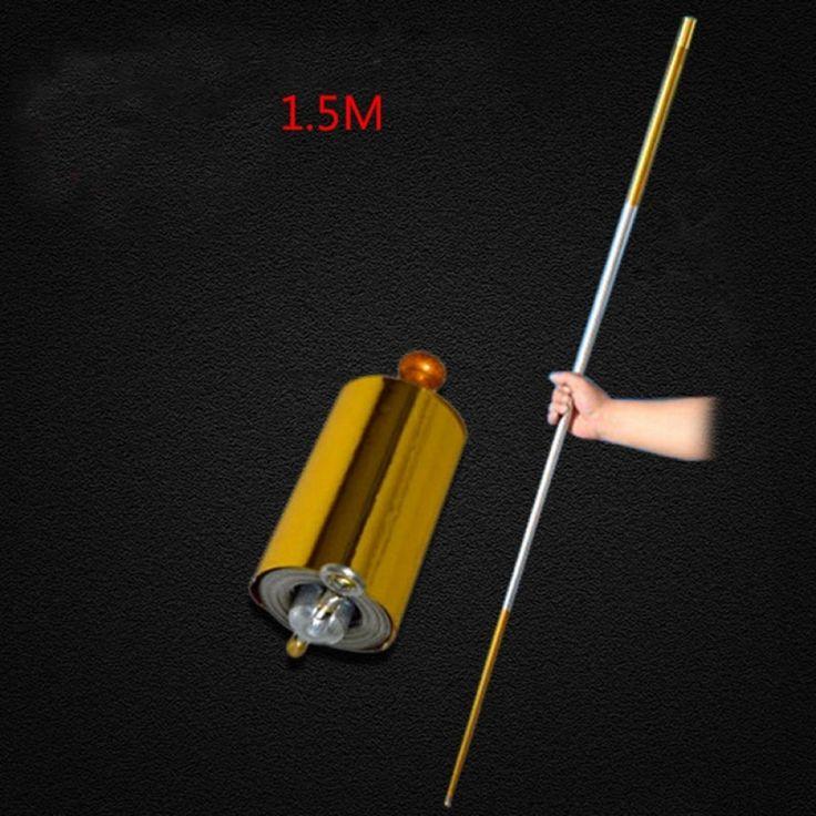 1 stücke 150 CM länge goldene Silber schwarz knüppel metall Erscheinen Cane zaubertricks für professionelle zauberer bühnenstraße 83034   – Magic Tricks