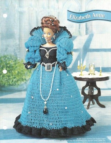 barbie+crochet+ball+gown+patterns+free | BARBIE DOLL GOWN FREE CROCHET PATTERN | Crochet Patterns
