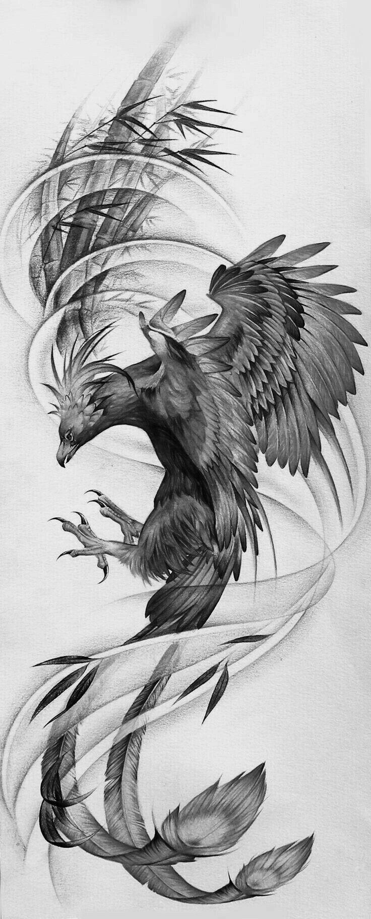 Pin By Adella Hall On Phoenix Phoenix Tattoo Phoenix Bird Tattoos Leg Tattoos