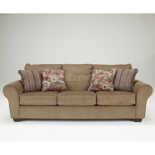 Galand umber sofa details pinterest chenille fabric for Ashley circa taupe sofa chaise
