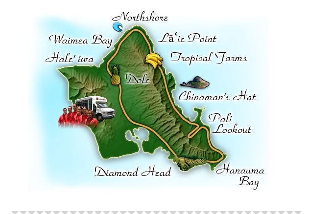 Tips For A Circle Oahu Tour - If you're visiting Hawaii a great way to start your trip is on a Circle Oahu Tour, and here's why! See the best spots on Oahu, then decide which spots you find most exciting, and go back to the ones you like the most.