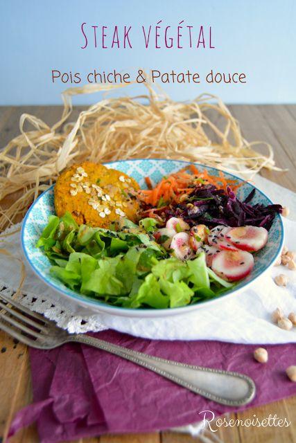 Rosenoisettes: Steak végétal aux pois-chiche et patate douce