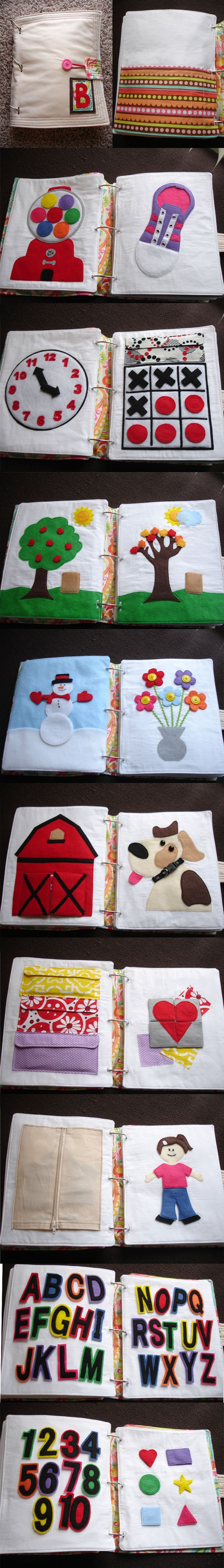 Im seriously considering making one of these quiet books for my 1 and 2 year olds...