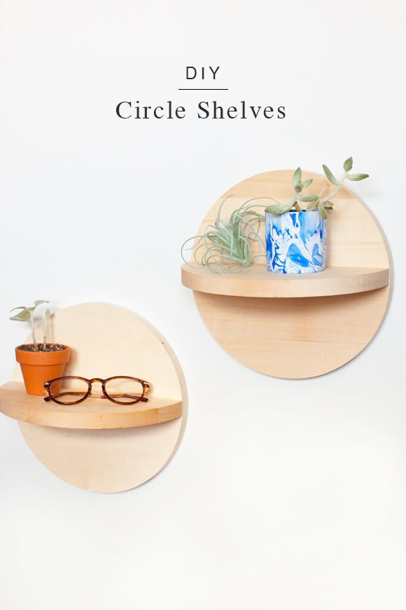 DIY Circle Shelves