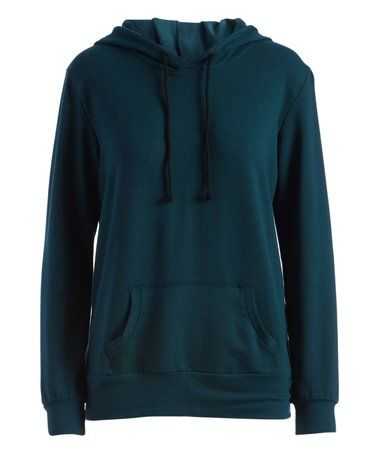 Another great find on #zulily! Hunter Green French Terry Hoodie #zulilyfinds