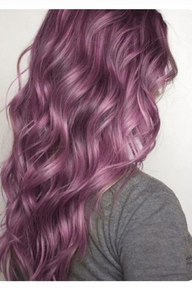 Loving purple hair