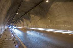 Interior of a tunnel stock photo