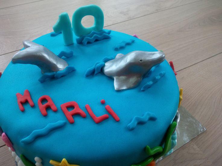 #dolfijn #boetseren #marsepein
