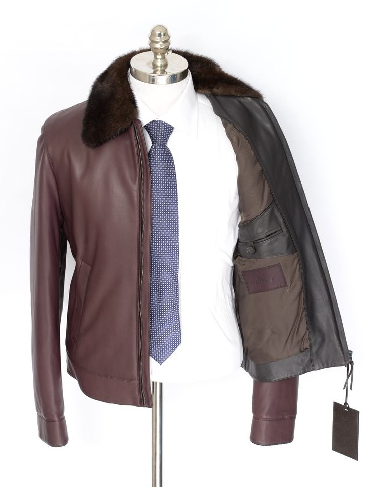 Warm shades of red & brown come together in a luxurious leather jacket.  |  Find yours! http://www.frieschskys.com/leather/leather-coats-jackets  |  #frieschskys #mensfashion #fashion #mensstyle #style #moda #menswear #dapper #stylish #MadeInItaly #Italy #couture #highfashion #designer #shopping