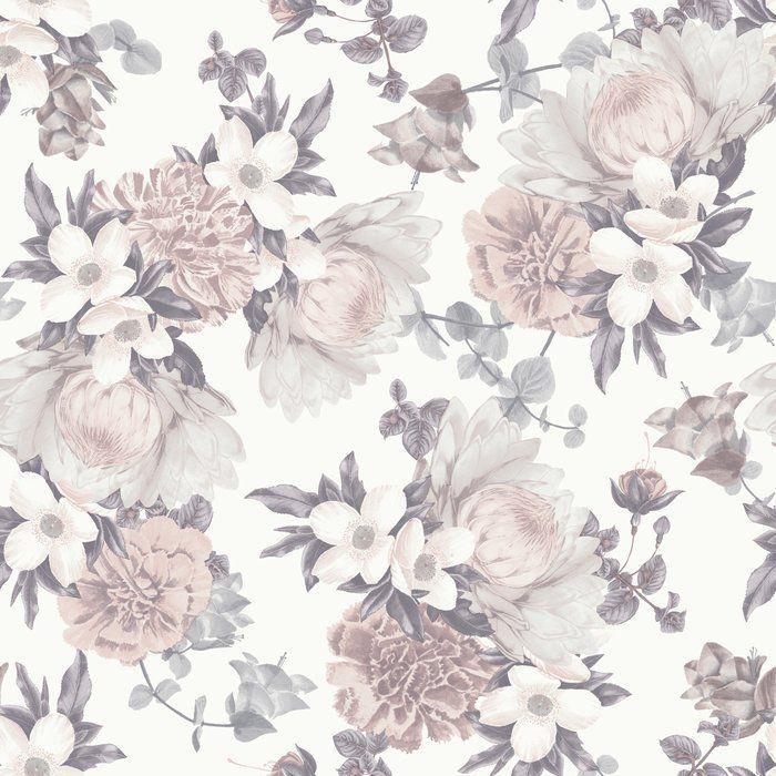 Harden Pale 33 L X 21 W Wallpaper Roll Floral Wallpaper Botanical Wallpaper Temporary Wallpaper