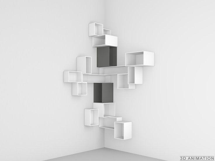 Étagères d'angle Bibliothèque modulable - Cubit by Mymito