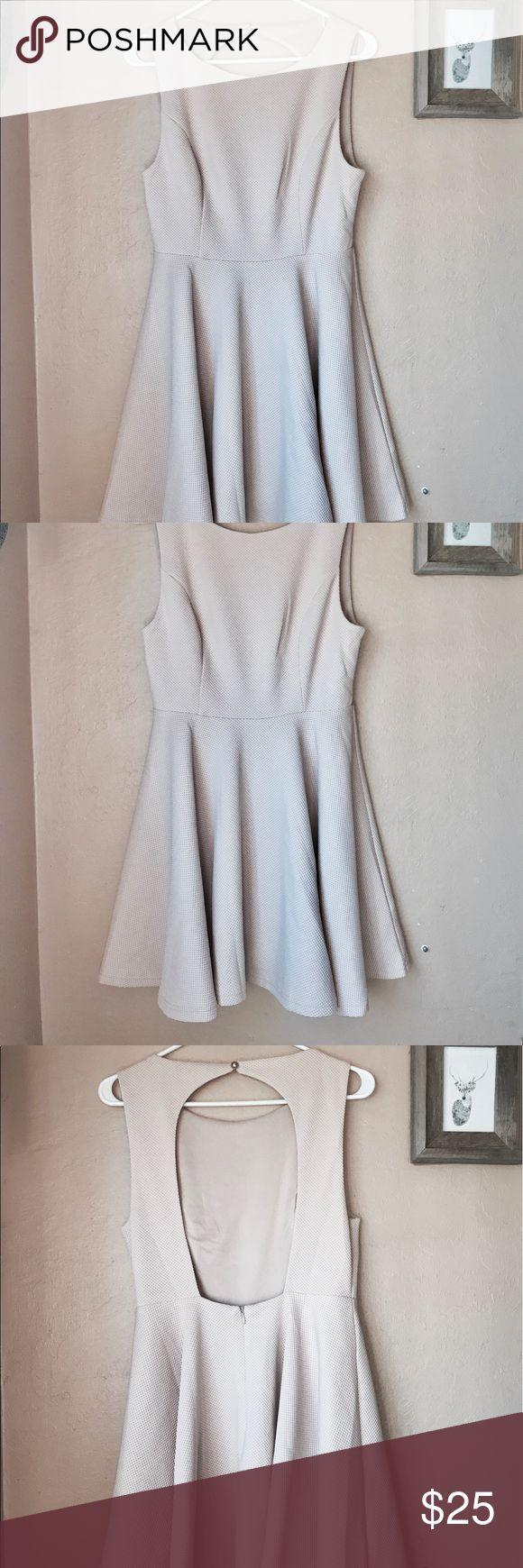 nude mini dress worn once! super cute for date nights! Lulu's Dresses Mini
