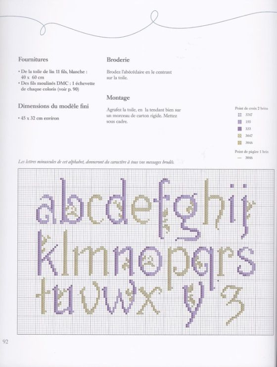 Gallery.ru / Фото #90 - Alphabets au point de croix - CrossStich