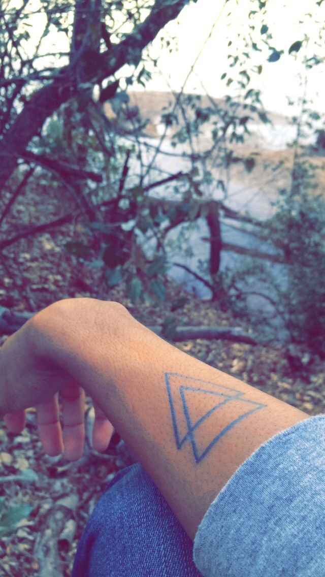 """My tattoo which means """"Divine Change"""". The number three means divine/godly spiritually and triangle means change mathematically."""