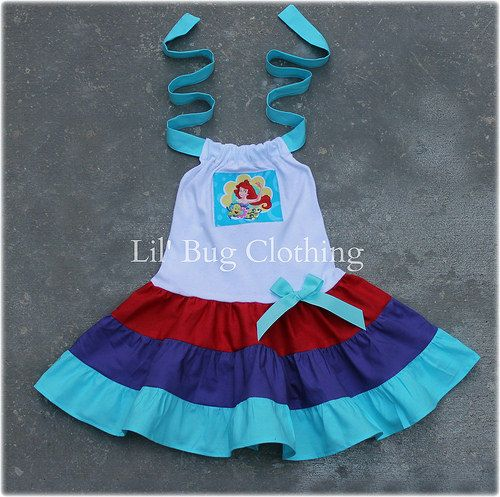 Little Mermaid Ariel  Custom Boutique Clothing by LilBugsClothing, $35.00