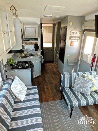 rv remodel camper interior ideas 31