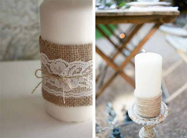 decorazioni shabby chic addobbi fai da te : Tes, Candle decorations and Fai da te on Pinterest