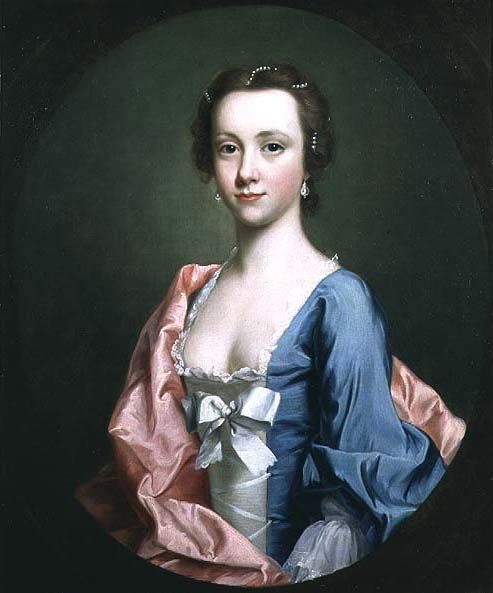 Portrait of Jenny Cameron of Glendessary, who led her clan's troops to Glenfinnan at the start of the Jacobite Rising in August, 1745.