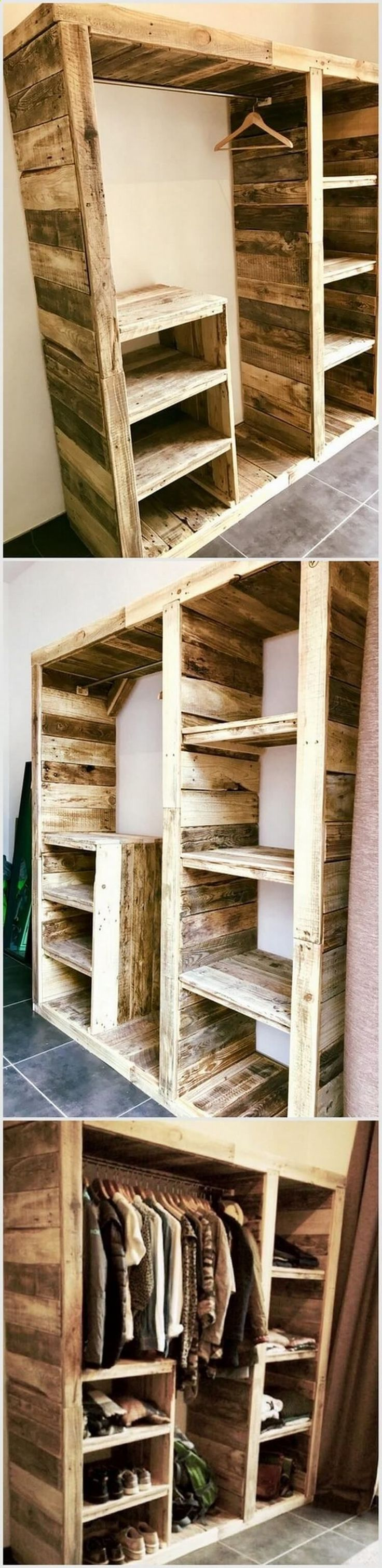 Teds Wood Working Recycled Pallet Wardrobe