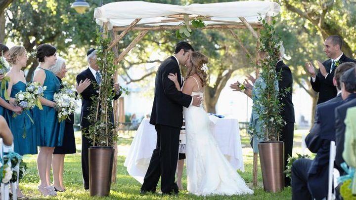 Chuppa BMs Jewish Traditional Wedding Ceremony Under Chuppah Houston Tx