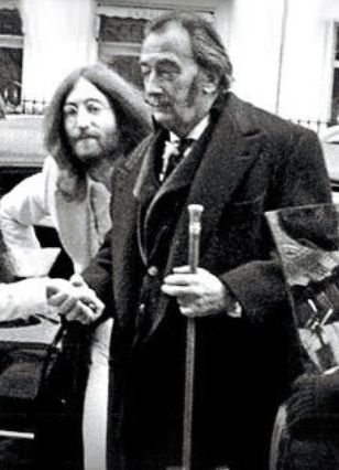 John Lennon and Salvador Dali
