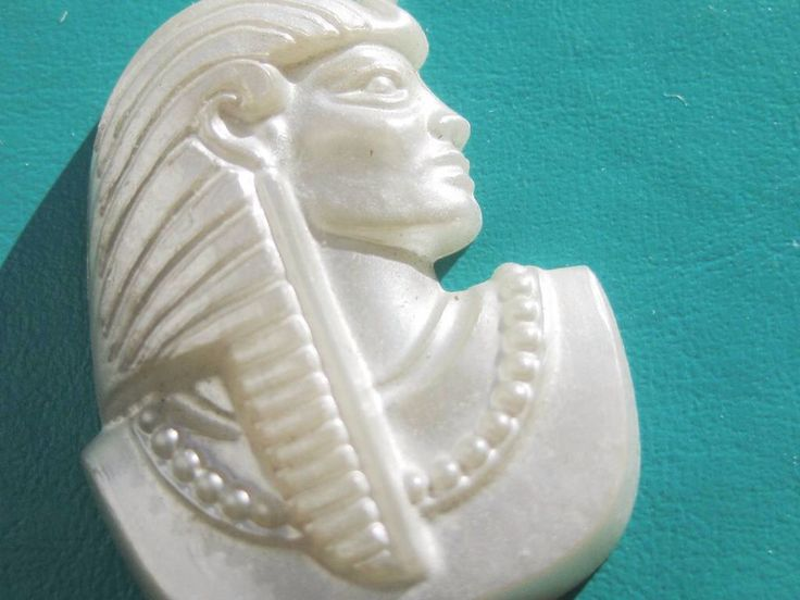 A personal favorite from my Etsy shop https://www.etsy.com/au/listing/280196426/vintage-ancient-egyptian-king-tut-pearly