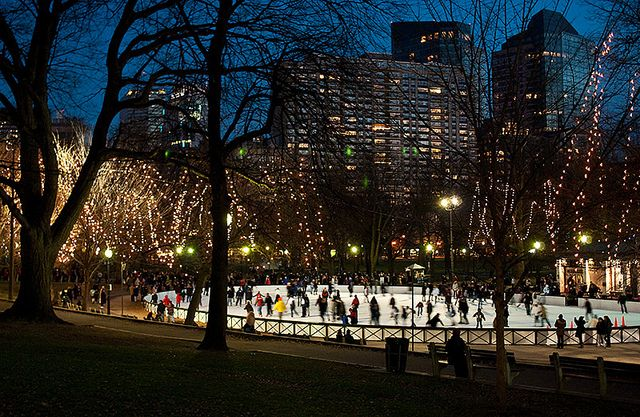 Frog pond. Christmas in Boston circa 2008!