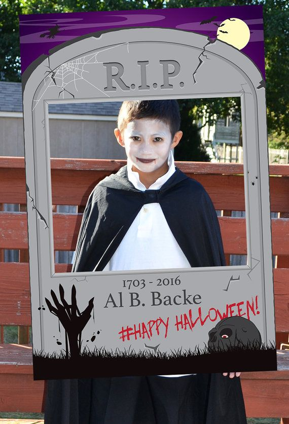 Zombie Tombstone Photo Booth. Halloween Photo Booth. Party Prop. Great for your next Halloween Party or Zombie Themed Party!