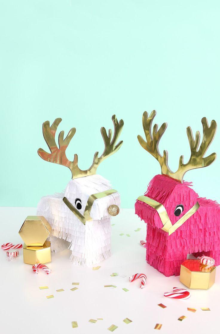 DIY Pizza Tree Skirt On Brit   CoDIY Reindeer PinatasDIY Pineapple Pinecone Holiday Ornaments On Brit   Co