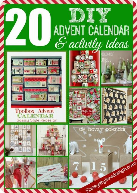20 DIY Advent Calendar & Activity Ideas