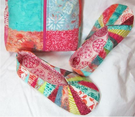 26 best quilting snappy slippers images on Pinterest | Slippers ... : quilted slippers pattern - Adamdwight.com