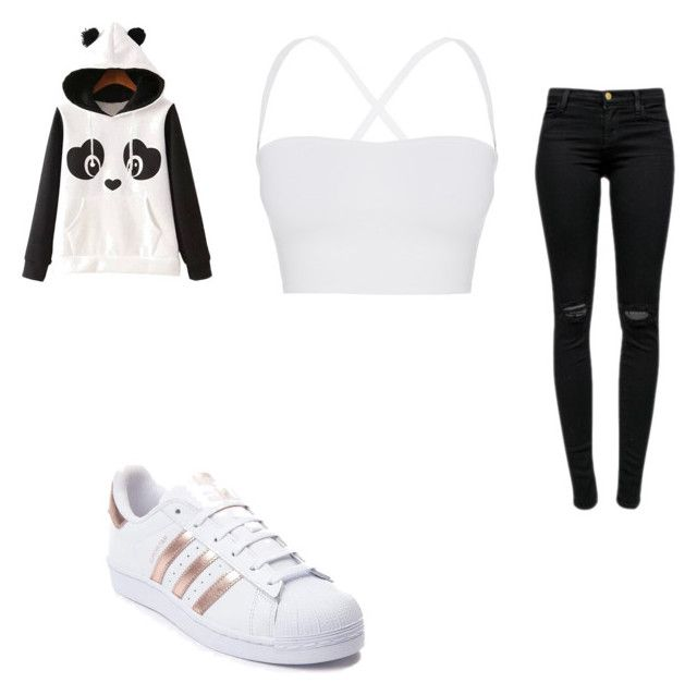 """#415"" by aureeliet on Polyvore featuring WithChic, Theory, J Brand and adidas"