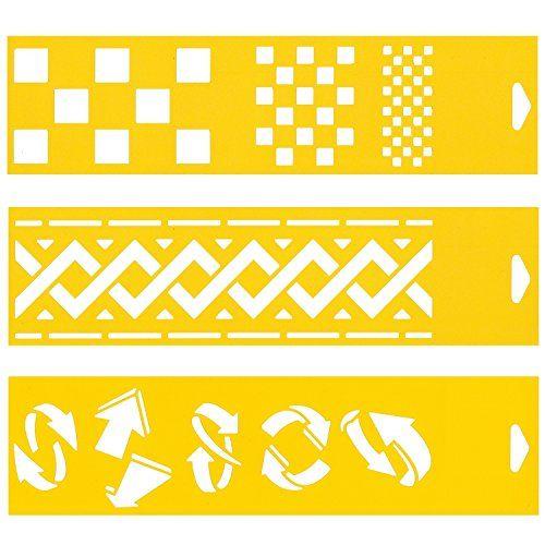 30cm x 8cm Pochoir (Jeu de 3) Réutilisable en PCV Plastique Transparent Souple Trace Gabarit - Traçage Illustration Conception de Gâteau Murs Toile Tissu Meubles Décoration Aérographe Airbrush - Carrés Dames Echecs Motif Plantec http://www.amazon.fr/dp/B00D4605NO/ref=cm_sw_r_pi_dp_A-Lqwb1H4B1M8